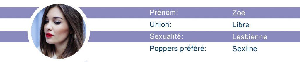 l'avis de zoé sur le poppers