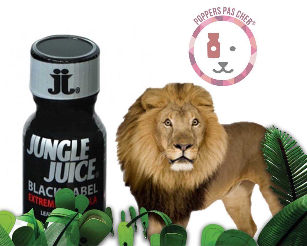 découvrir le poppers arome noir de chez jungle juice